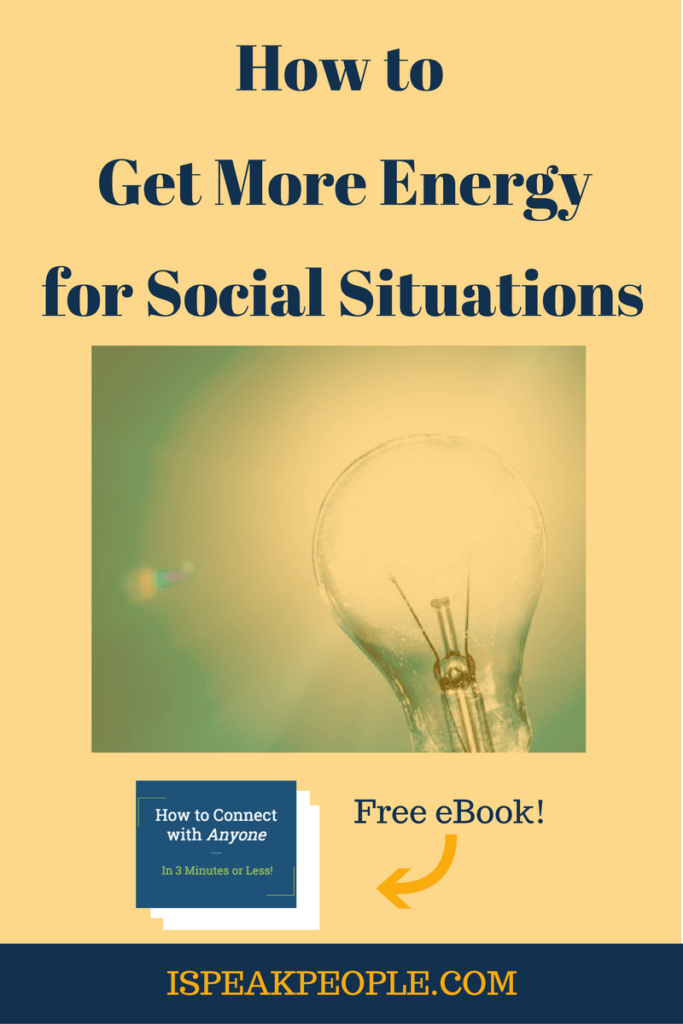 How do you get more energy for social situations? Find out how a gradual approach to increasing your social interaction can boost your social energy. social energy truths, social energy student, social energy for kids, social energy people