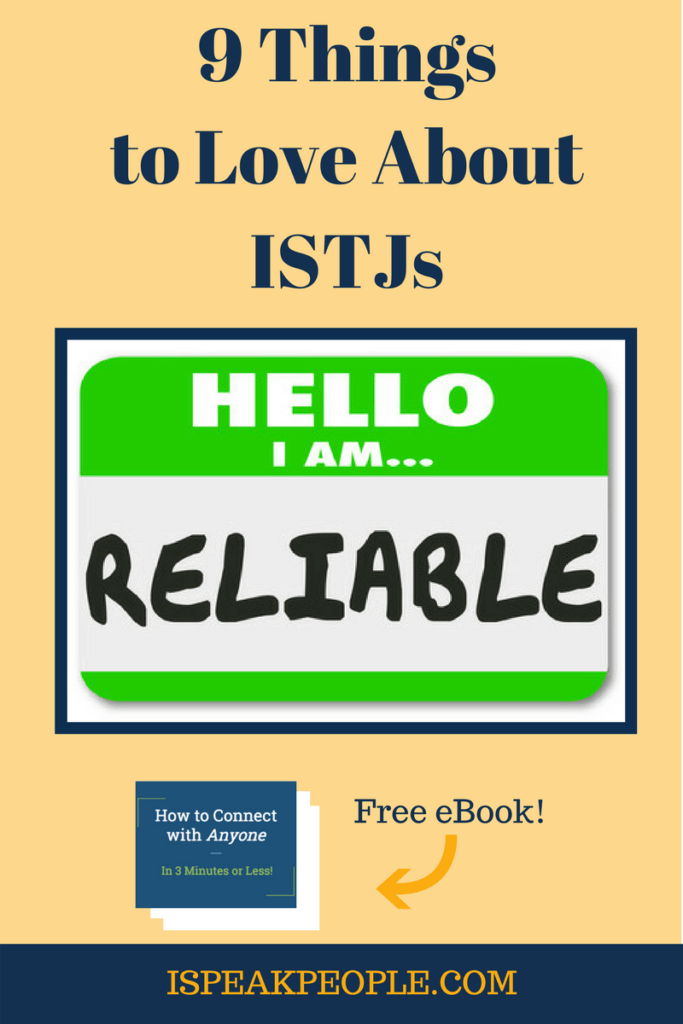 What makes an ISTJ awesome? There's a lot to love about the ISTJ personality type. Check out 9 Things that Make ISTJs charming!