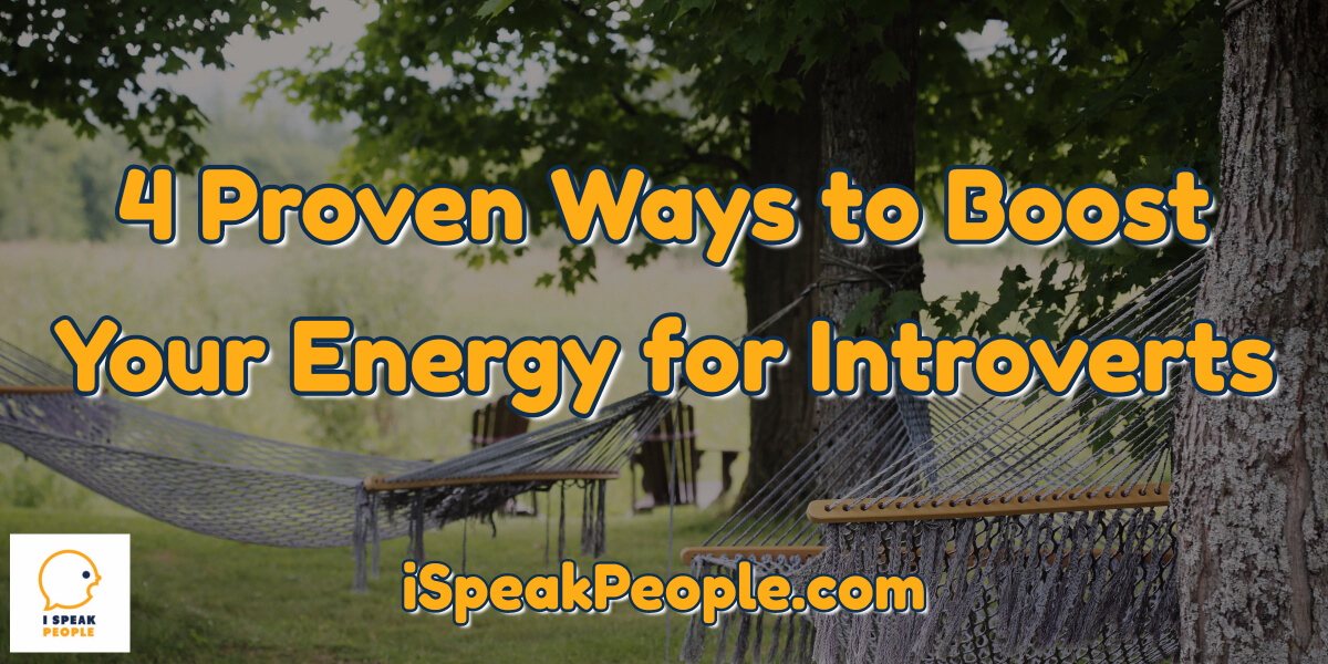 Want to know how to boost your energy if you're an introvert?! Check out this post to learn 4 proven ways any quiet person can increase her energy.